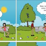 Cuidemos nuestro patio: no tires la basura al suelo