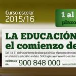 Información sobre admisión de alumnado para el curso 2016-2017